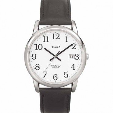 Timex Men's T2H281 Easy Reader Date Leather Strap Watch